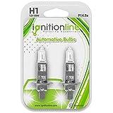 IgnitionLine H1 Headlight Bulbs 448 12V 55W Halogen Headlamp Head Light Fog Dip Beam Car Bulbs 1 Pin P14.5s (Pack Of 2)