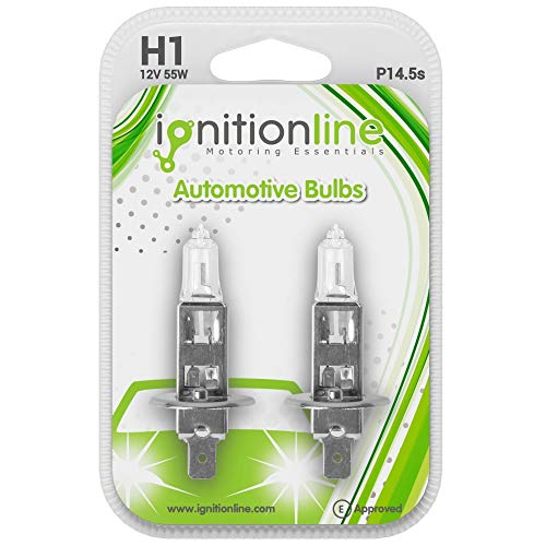 IgnitionLine H1 Headlight Bulbs 448 12V 55W Halogen Headlamp Head Light Fog Dip Beam Car Bulbs 1 Pin P14.5s (Pack Of 2) large image