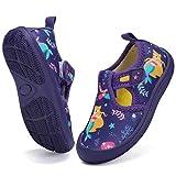 DimaiGlobal Zapatos de Agua Calcetines Descalzos de Secado rápido para Niñas Niños Piscina de Playa Natación para Buceo Surf Yoga Ejercicio Zapatos para Interiores 20EU Púrpura