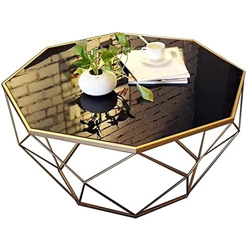 Mesa auxiliar del sofá, Mesas de café Mesa de centro Mesa de vidrio de hierro forjado Fibra reforzada Mesa de té de plástico reforzado Mesa de cóctel, usado en el dormitorio Sala de estar Café Mesa au