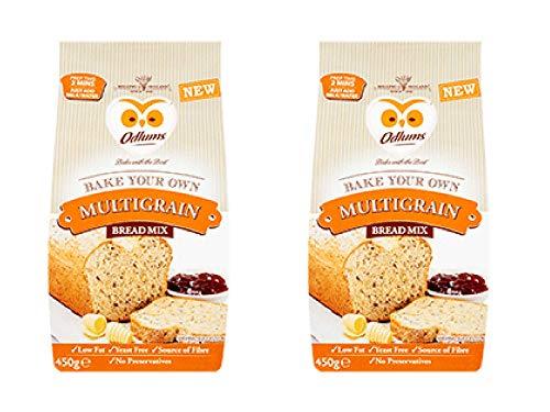 Odlum's Irish Multigrain Bread Mix, 2 pack of 450g Bags, Ireland 'Bake Your Own' Mix