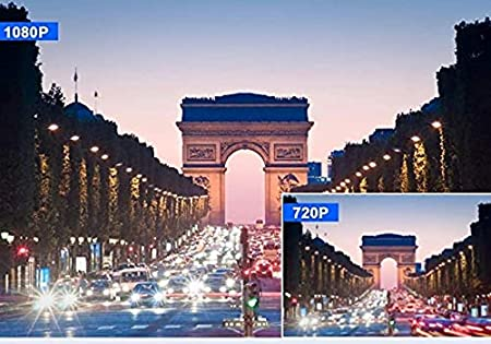 【2021 Nouvelle Version】 Cam/éra Embarqu/ée Voiture 1080P 4 Pouces Cam/éra de Voiture Grand Angle de 170/°,Dashcam Voiture avec Mode de Stationnement,D/étection de Mouvement,Enregistrement en Boucle