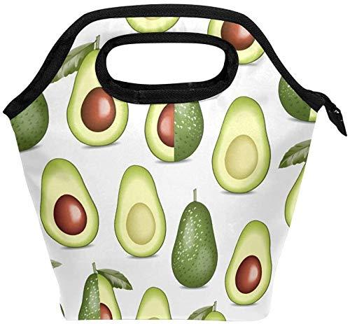 Bolsa de almuerzo con cremallera con aislamiento de aguacate, bolsa de asas más fresca para adultos, adolescentes, niños, niñas, hombres, mujeres, cajas de almuerzo de frutas, loncheras, bolso de pre