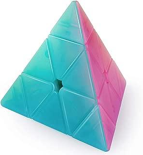 D-FantiX Qiyi Qiming Pyramid Stickerless Speed Cube 3x3 Jelly Cube Puzzle