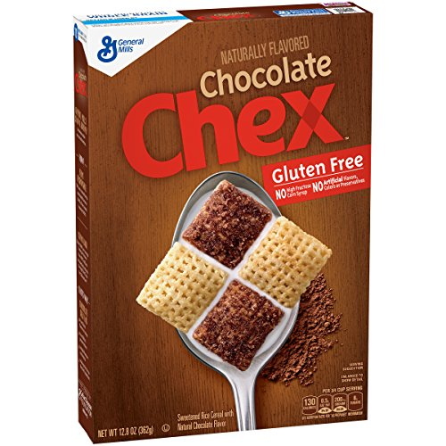 Chex Cereal, Gluten Free, Chocolate, 12.8 Ounce (Pack of 3)