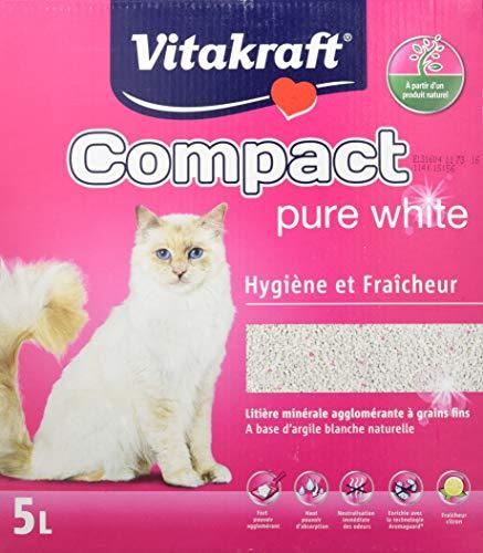 VITAKRAFT Compact Litière en Argile Pure White pour Chat 5L