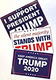Patriotics Donald Trump for President 2020 Re-Election Campaign Poster Signs Set of Three
