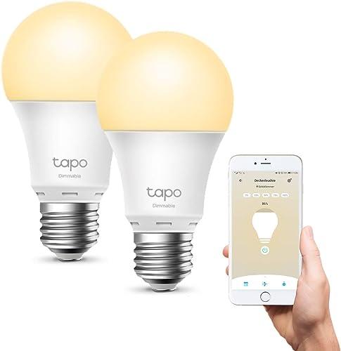 Smart Wi-Fi Light Bulb, Dimmable, E27, 2-Pack