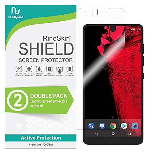 (2-Pack) RinoGear Essential Phone PH-1 Screen Protector Case Friendly Screen Protector for Essential Phone PH-1 Accessory Full Coverage Clear Film