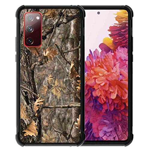 for Samsung Galaxy S20 FE [4G&5G] Case for Girls Women Hunting Camo Forest Camouflage, ABLOOMBOX Anti Scratch Slim Bumper Shockproof Protective Case Cover Reinforced Corners