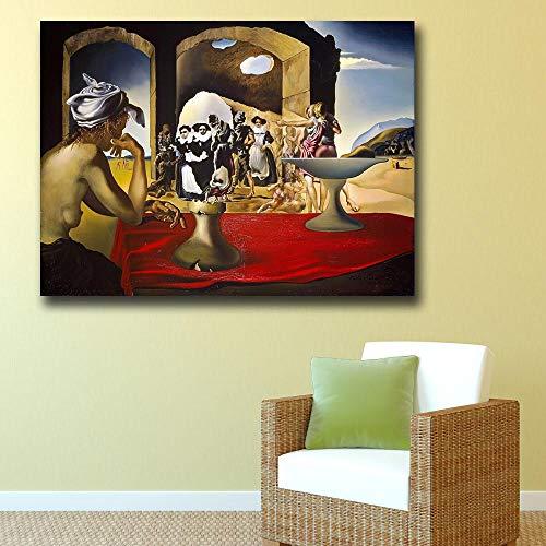 zhuziji DIY Malen nach Zahlen Surrealistisches Bild Sklavenmarkt Wohnzimmer Gemälde Home Decor Wandbild40x60cm(Kein Rahmen)