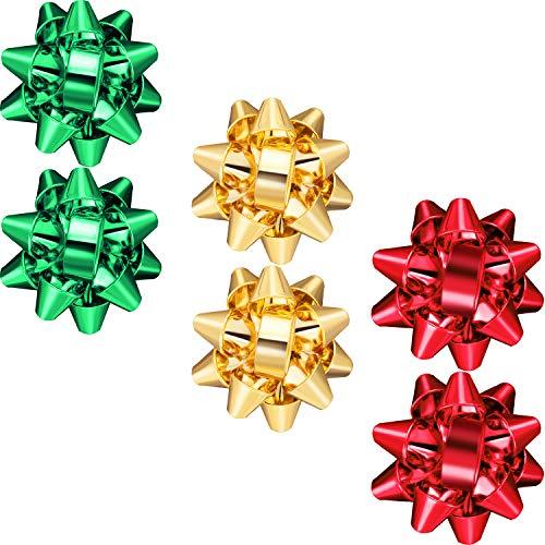 3 Pairs Christmas Earrings Bow Flower Dangle Earrings Cubic Bow Stud Earrings for Women (Style Set 2)