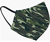 MASK-R Mascarilla reutilizable y lavable hasta 50 veces de tela camuflaje color verde...