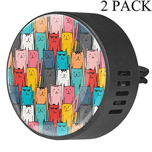 Tizorax luchtverfrisser-diffuser voor etherische olie voor de auto, kleurrijke pakketten Cat 2 voor kantoor in de auto White Musk-4x1.6x2.1 cm White Musk