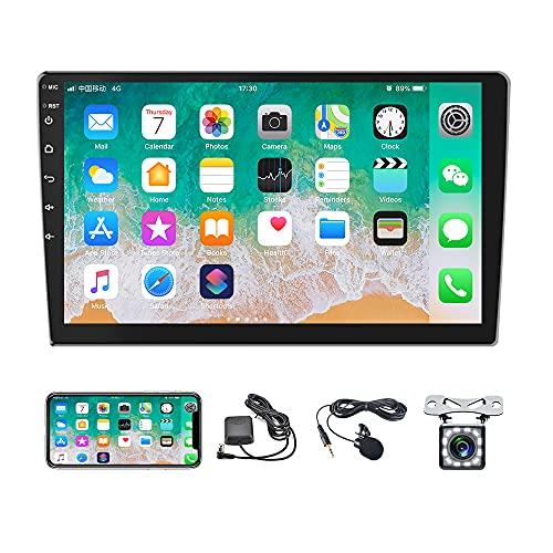 10,1 Pollici Android 10,1 Autoradio 2 DIN GPS Navigation WiFi Bluetooth FM USB Doppio Car Stereo, Mirror Link 1080P HD Touch Screen Sistema Multimediale per Auto Rear View Fotocamera Inclusa