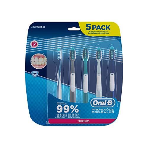 Escova Dental Oral-B Pro-Saúde 7 Benefícios, 5 Unidades