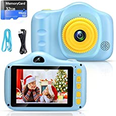 Cámara para Niños Infantil Cámara de Fotos Digital Cámara Juguete para Niños 3.5 Pulgadas 12MP 1080P HD Selfie Video...