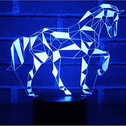 Regalo de Navidad de año nuevo 3D LED Night Light Tangram Puzzle con luz nocturna para luces Productos para bebés
