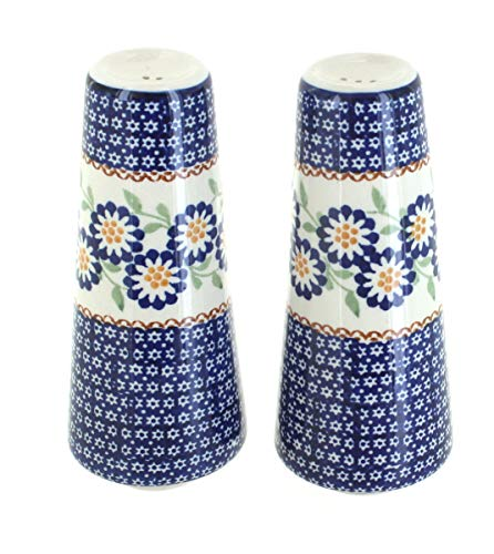 Blue Rose Polish Pottery Peach Blossom Salt & Pepper Shakers