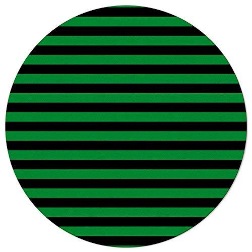 HOMMOU Moderner r&er Teppich – St. Patrick's Day grüne Streifen – rutschfest und schmutzabweisend, weicher, gemütlicher Innenteppich, für Wohnzimmer, Schlafzimmer, Esszimmer, 152 cm