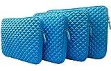 AZ-Cover 10.8-Inch Simplicity Stylish Diamond Foam Shock-Resistant Neoprene Sleeve (BLUE) For Dell Venue 11 Pro 5130 462-4385 7000 7140 Pro11i-2501BLK Pro11i-6363BLK Tablet + One Stylus Pen