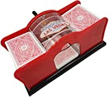 Avicii Fovever ZZ Manual Card Shuffler (2-Deck) for Blackjack Poker - for Home Party Club, Funny Gift Family Game Accessory, Red