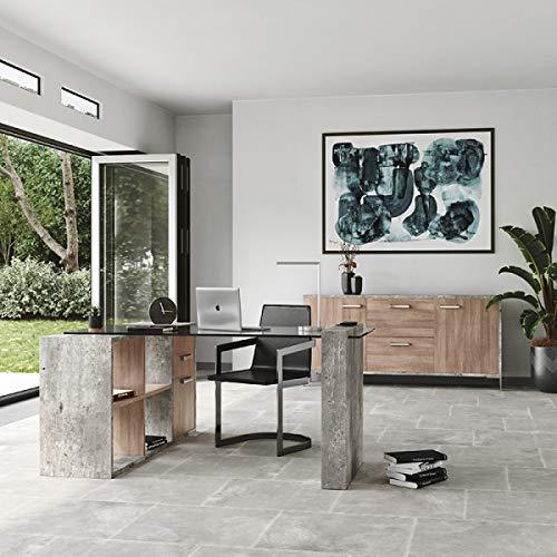 Limari Home Baston Reversible Office Desk, Gray