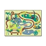 Dltmysh Alfombra Dibujos Animados de Animales Alfombra para niños Habitación para niños Lindo Bosque Verde Dormitorio Alfombras Alfombras Boys Girls Play Mat Matera de Noche