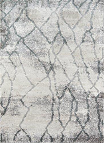 Momeni Matrix Teppich, Polyester, 90 x 150 cm, Grau