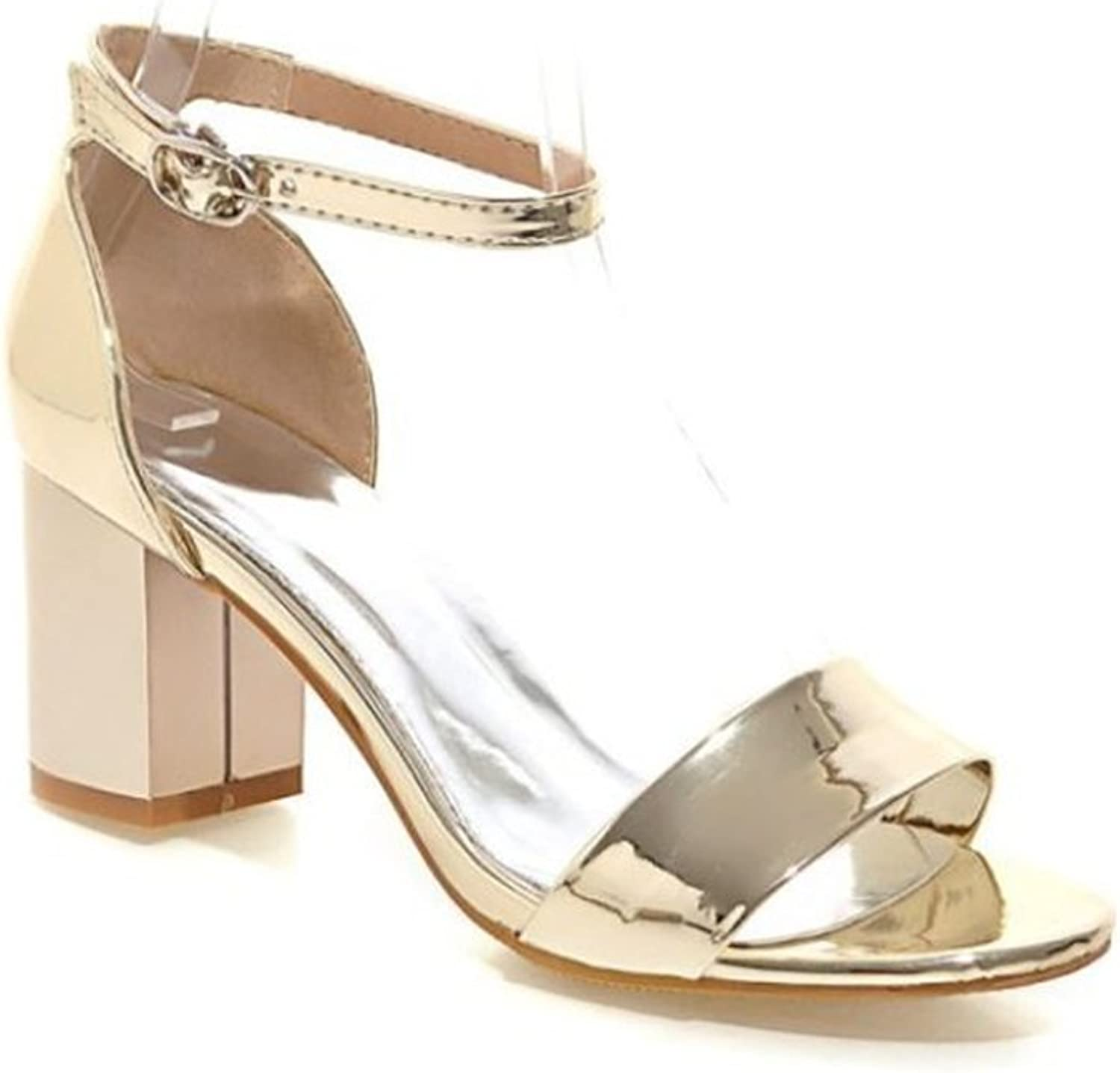 Women's Lace-up Metal Buckle Heel mps - Formal, Wedding, Party Simple Classic mps