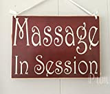 Massage in Session 8x6 (Choose Color) in Session Please Do Not Disturb Spa Salon Office Rustic Wood Sign Welcome Plaque Door Hanger Custom