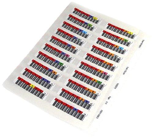 Quantum Data Cartridge bar Code Labels LTO6 Series 000001-000100