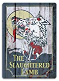 PotteLove The Slaughtered Lamb Metal Wall Sign Plaque Art American Werewolf in London