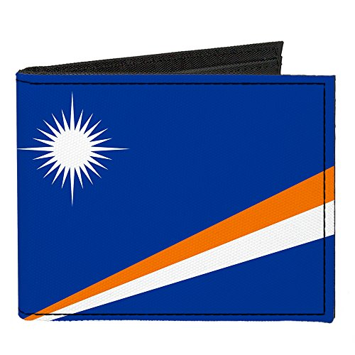 Buckle-Down Canvas Bifold Wallet - Marshall Islands