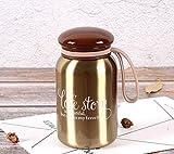 Sport Mushroom Cup, Portabler Handlicher Wasserkocher, Edelstahl Vakuum Isoliert Thermos Mug, Ladies...