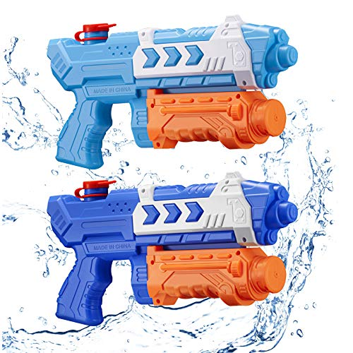 2 Pack Water Guns for Kids, Super Water Gun Soaker Blaster 500CC Toys Gifts for Boys Girls Children Summer Sand Swimming Pool Outdoor Water Fighting Play Toys