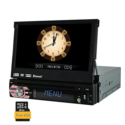 7'1 DIN Wince Dvd GPS Giocatore di Navigazione Universale in-precipitare Stereo Staccabile Pannello Frontale Auto Audio Radio FM con RDS AM Funzione di Ricevitore Radio autoradio + 8GB Free Card