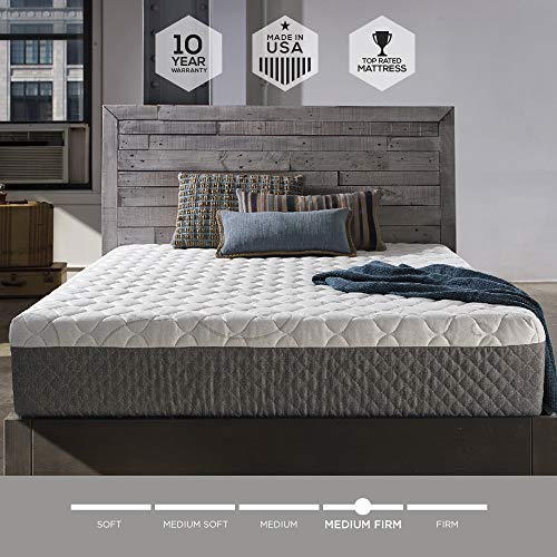 Sleep Innovations Marley 12-inch Memory Foam Mattress, King, White