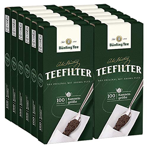 Bünting Tee Teefilter mit praktischer Anfasslasche (100 Stück), 12er Pack (12 x )