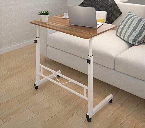 ZXL Uitneembare tafel Praktisch, eenvoudig en modern Mobiel bed tafel Heftafel computer Luie thuis eettafel Met rol Verstelbaar bureau Gratis op en neer (Kleur: B)