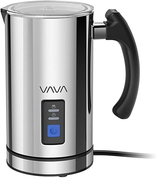 VAVA Milk Frother Electric Liquid Heater With Hot Milk Functionality Stainless Steel Electric Milk Steamer For Latte Cappuccino Hot Chocolate FDA Approved