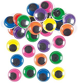 Baker Ross Jumbo Colored Wiggle-Eyes in 6 Assorted Colors for Children to Decorate Cards Crafts and Models (Pack of 60)