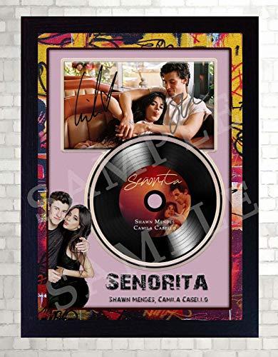 SGH SERVICES Shawn Mendes Camila Cabello Senorita Autogramm, gerahmt, Mini-Schallplatte