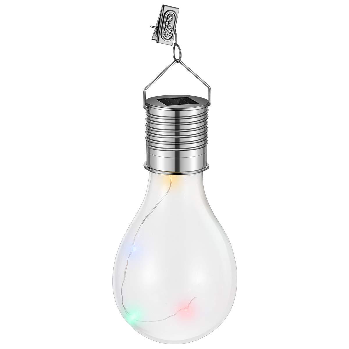 ledmomo Solar Lámparas Colgantes Agua Densidad esféricos Bombilla LED luces lámpara para exterior jardín camping (transparente Carcasa con cuatro colores luz): Amazon.es: Iluminación