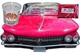 25g Fuchsia Candy Paint Pearls, a Metallic Paint Pigment - Hot Pink Paint Powder with 8 oz. Mixing Cup