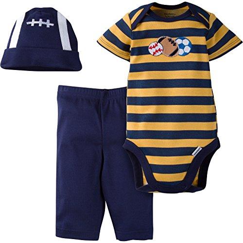 Gerber Baby Boys '3Piezas Body, Cap, y Pant Set - Azul -