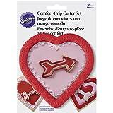 Wilton–Cortapastas (Borde de Goma corazón y Flecha Cookie Cutter Set, Rosa, Juego de 2