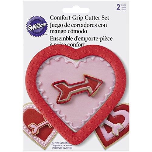 Wilton – Cortapastas (Borde de Goma corazón y Flecha Cook