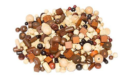 DETOA 12389/S - Mix Perlen 100 g, Natur braun