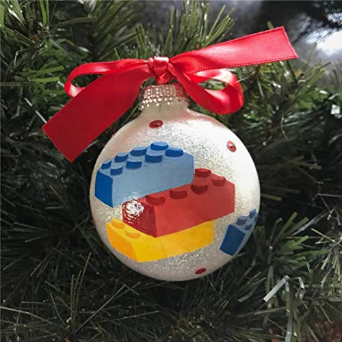 DONL9BAUER Hand Painted Acrylic Christmas Ball Ornament, Christmas Bauble Tree Ornament with presents for Church Members,Holiday,Family & Friends.